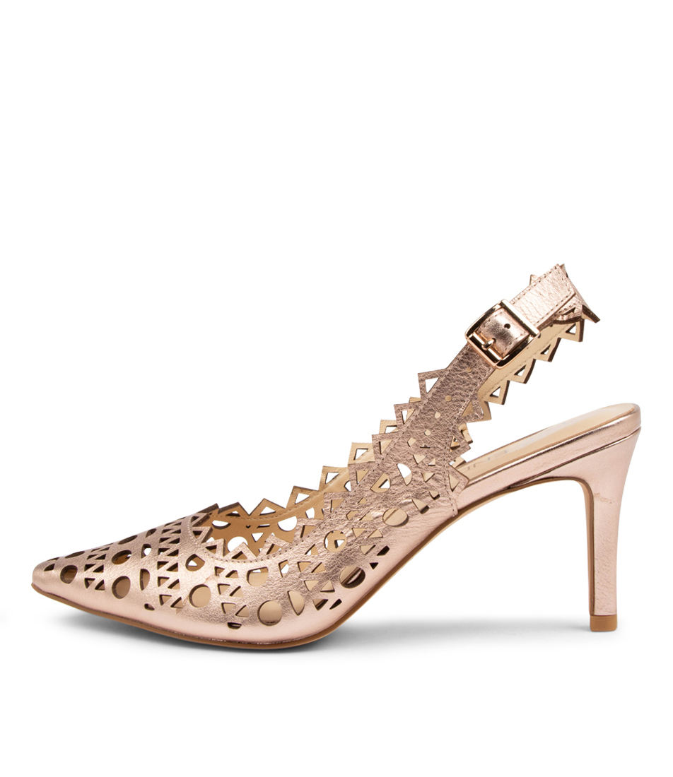 Buy Top End Beckets Rose Gold High Heels online with free shipping