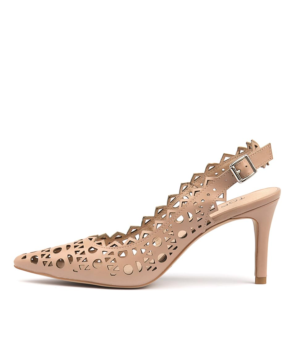 Buy Top End Beckets Dark Nude High Heels online with free shipping