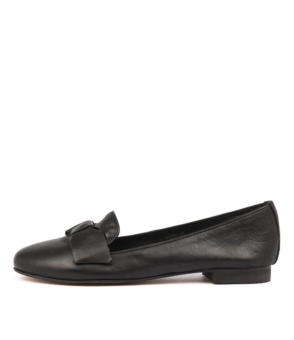 Top End Bibio Black Flat Shoes