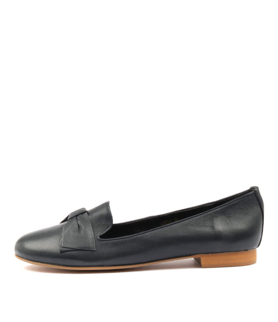 Top End Bibio Navy Flat Shoes