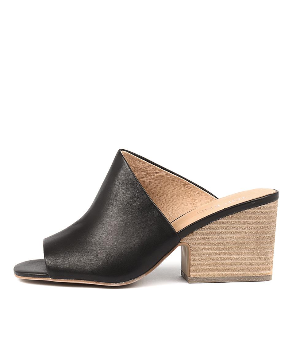Top End Billys Black Heeled Sandals