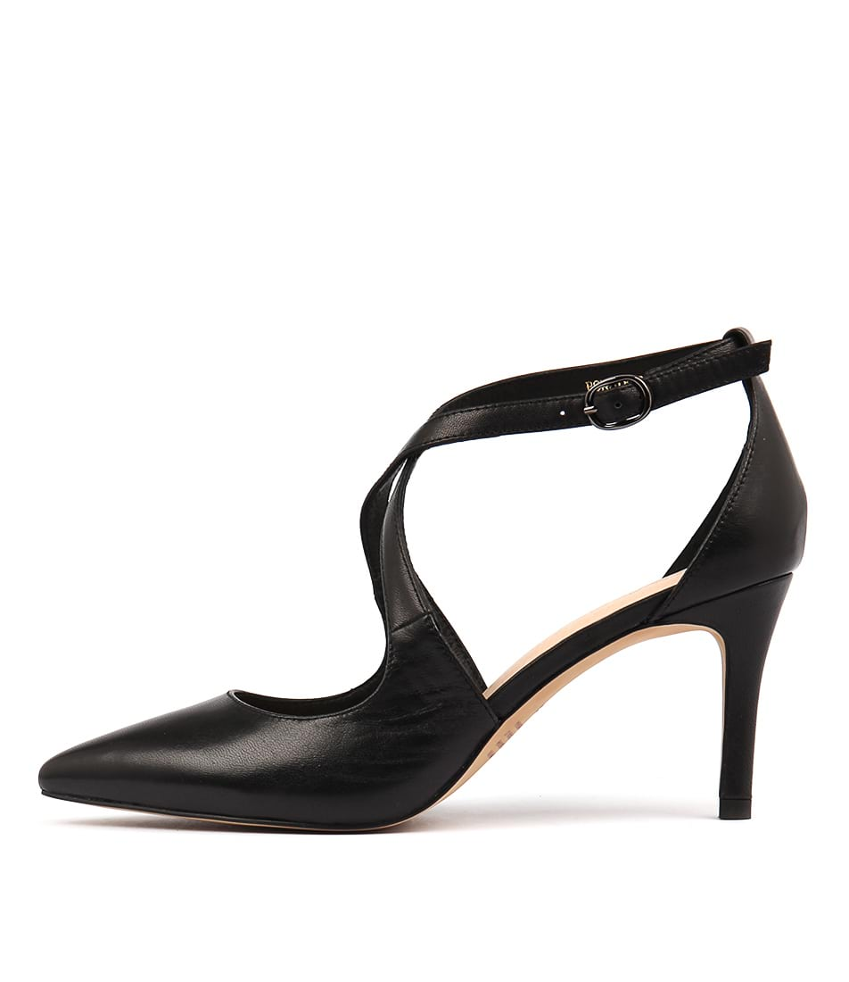 Top End Bonnie Black Casual Heeled Shoes