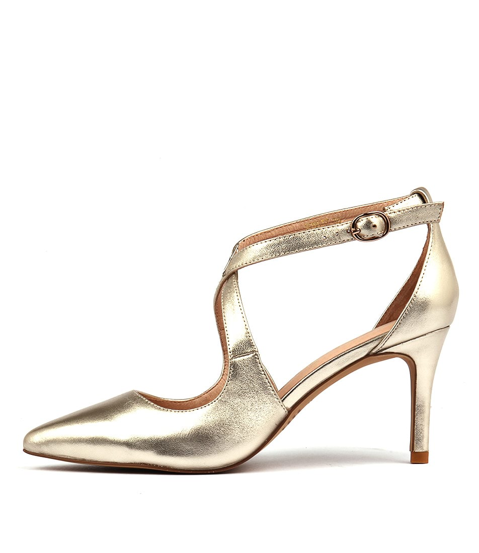 Top End Bonnie Pale Gold Casual Heeled Shoes