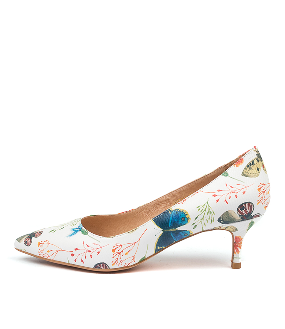 Buy Top End Certain White Floral High Heels online with free shipping