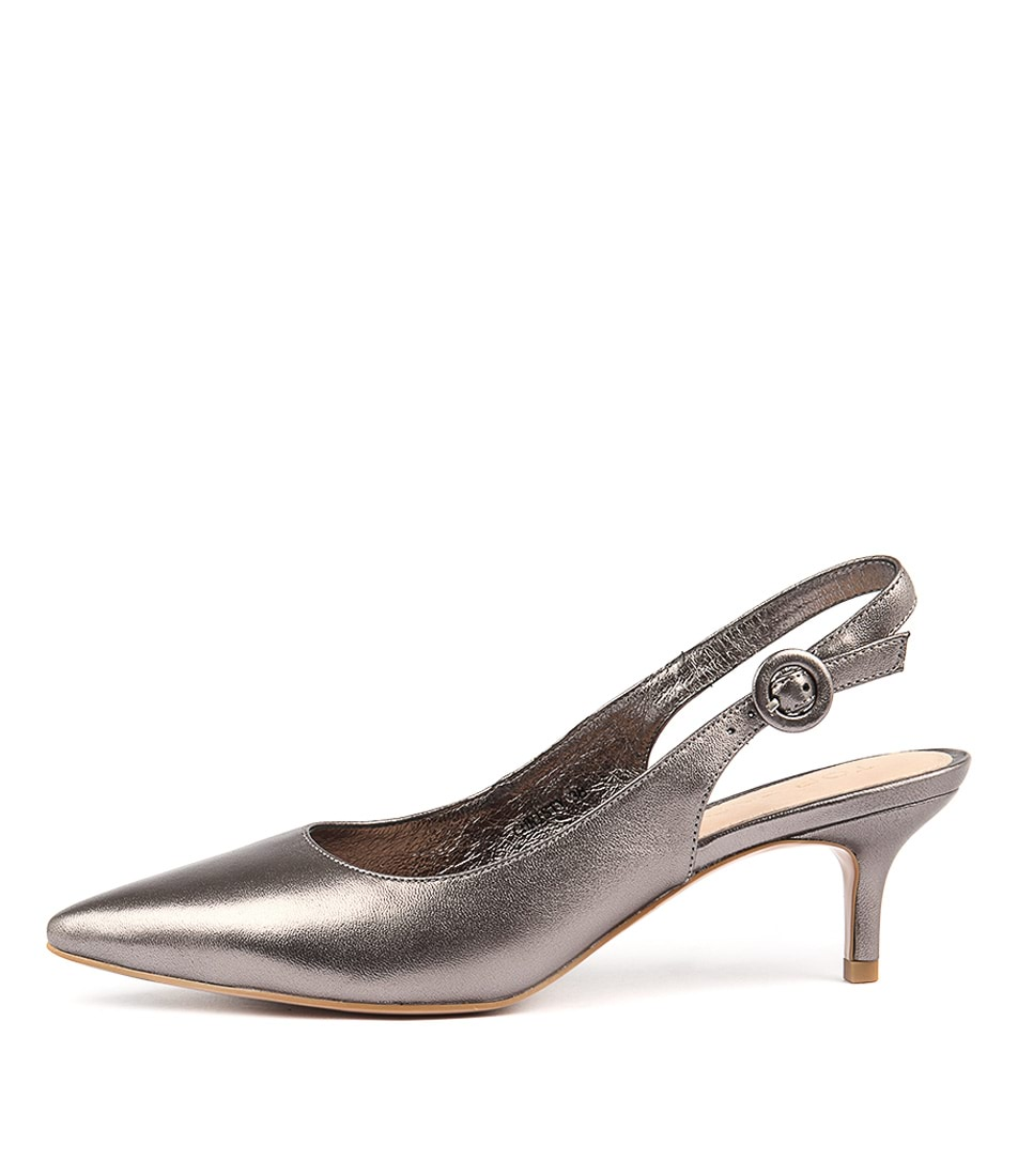 Top End Christy Pewter Casual Heeled Shoes