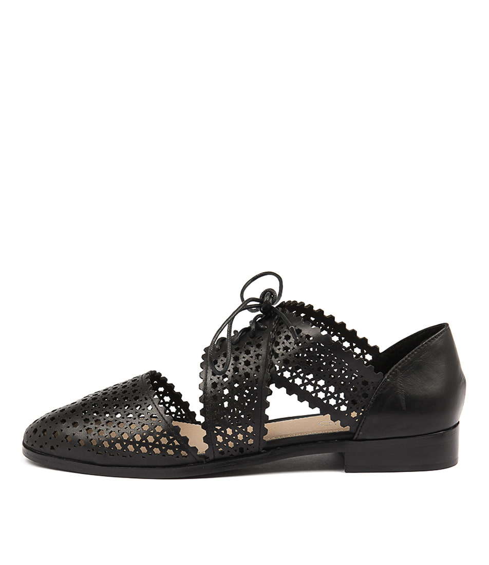 Top End Coster Black Flat Shoes