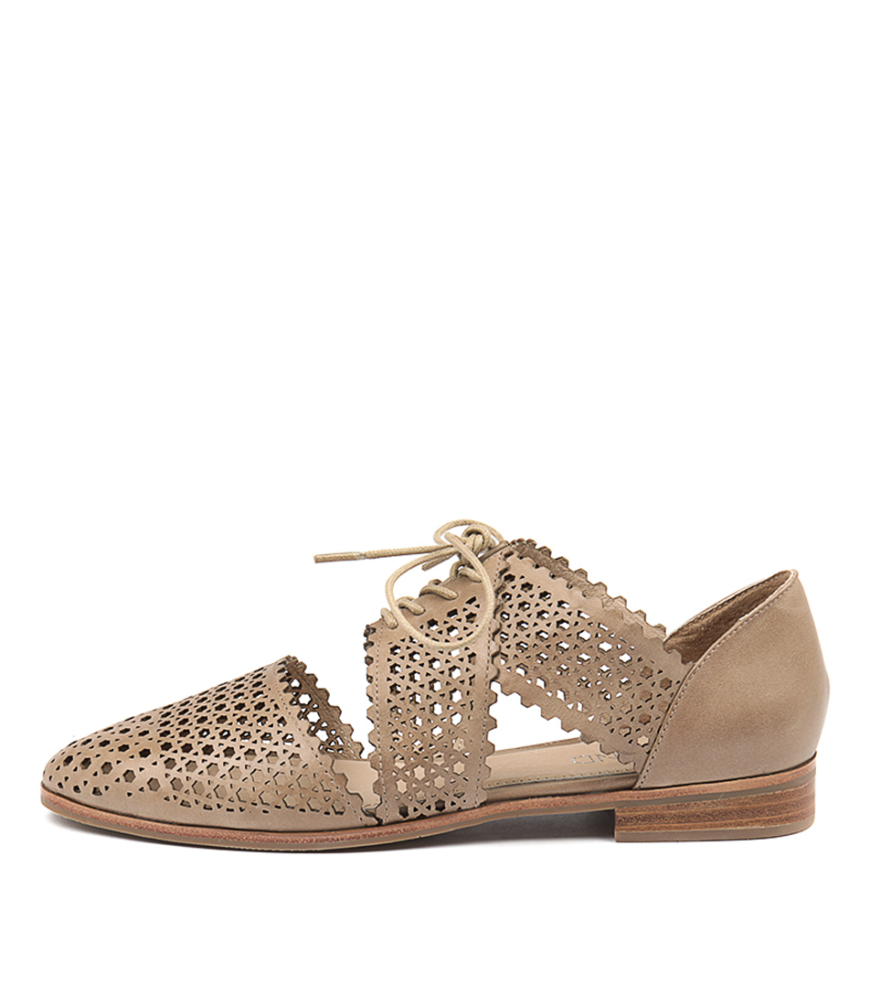 Top End Coster Taupe Flat Shoes
