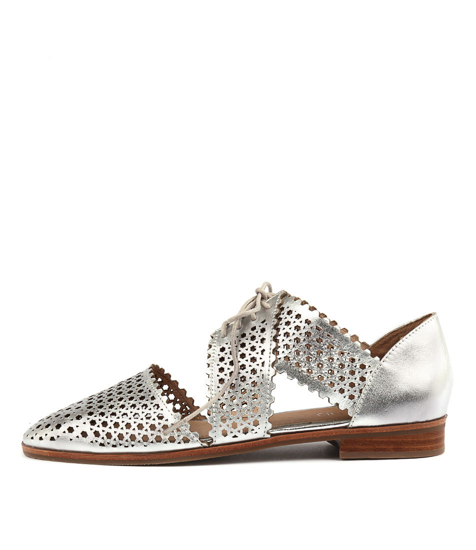 Top End Coster Silver Flat Shoes