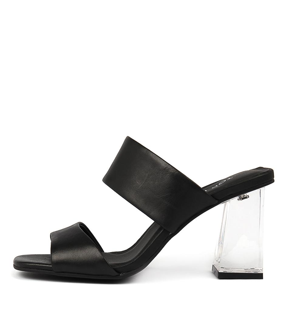 Top End Jossy Black Heeled Sandals