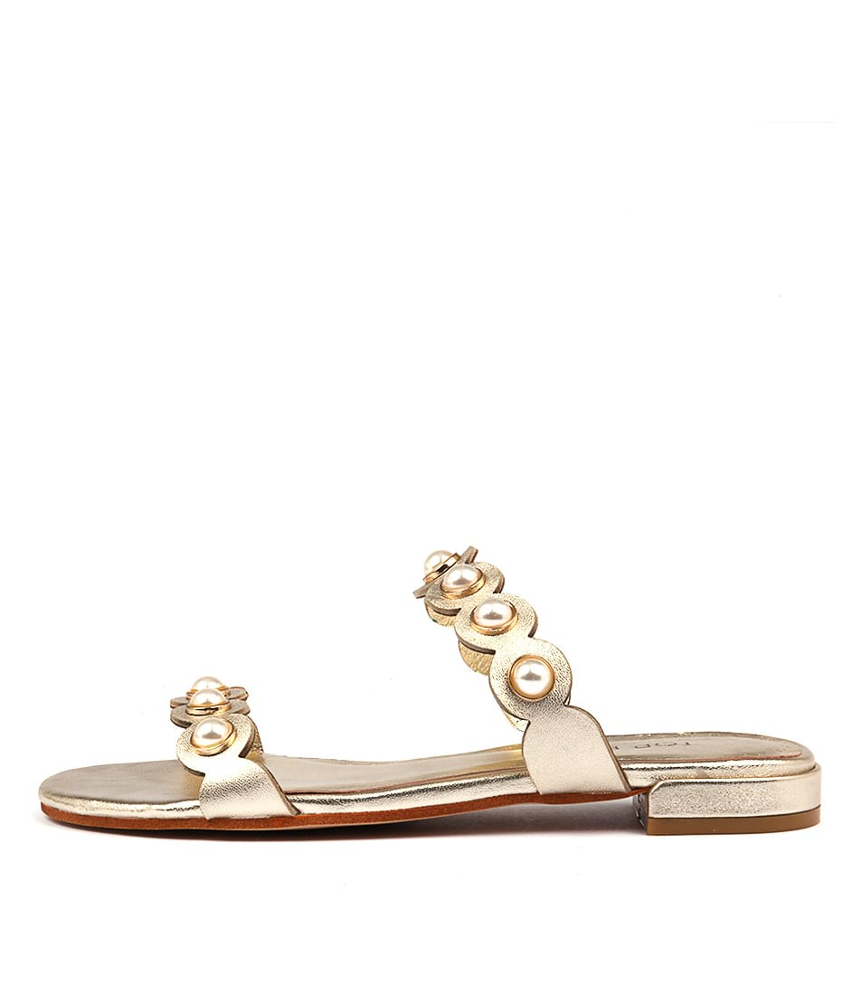 Top End Lorrisa Pale Gold Flat Sandals
