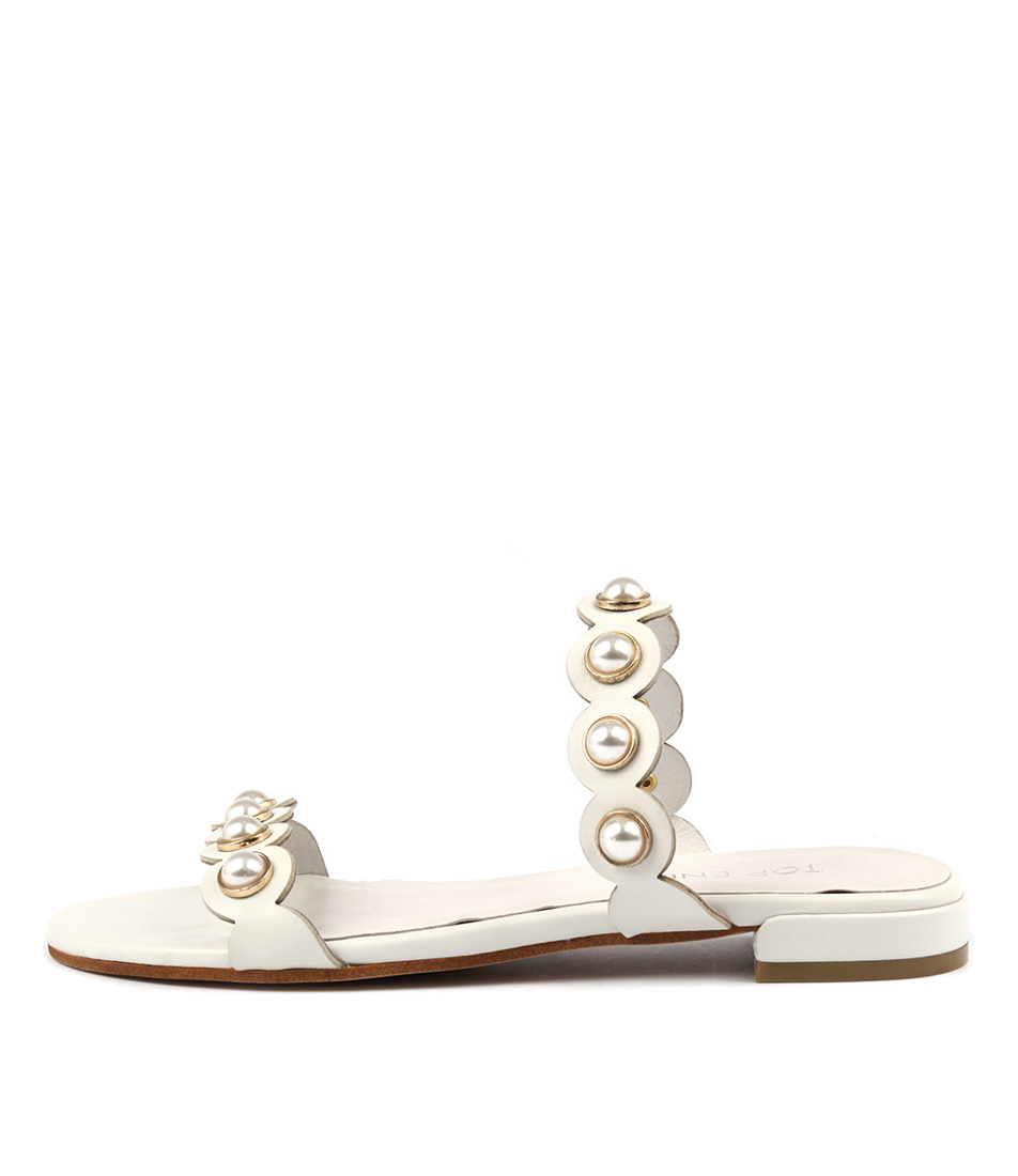 Top End Lorrisa White Sandals