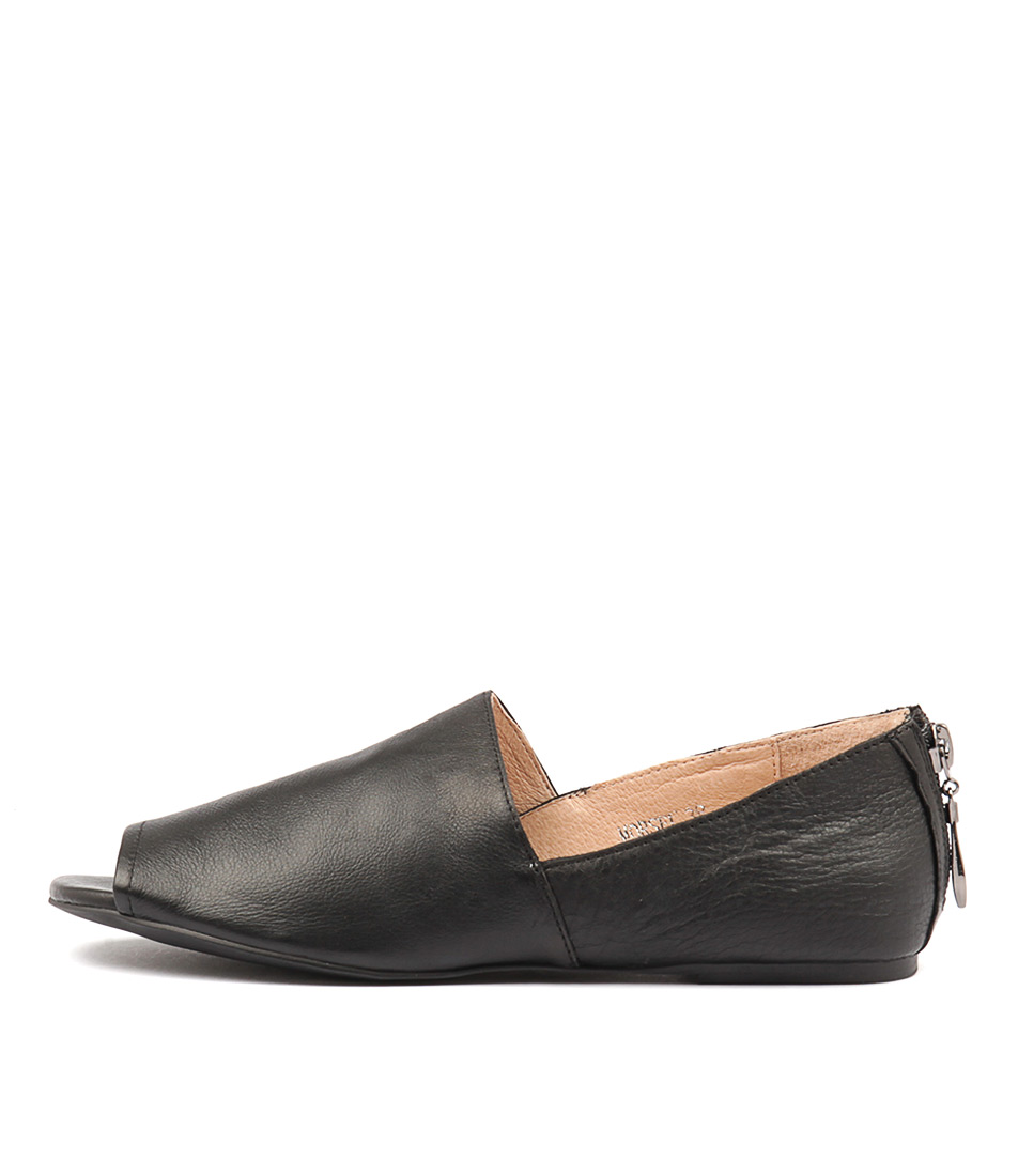 Top End Morsel Black Flat Shoes