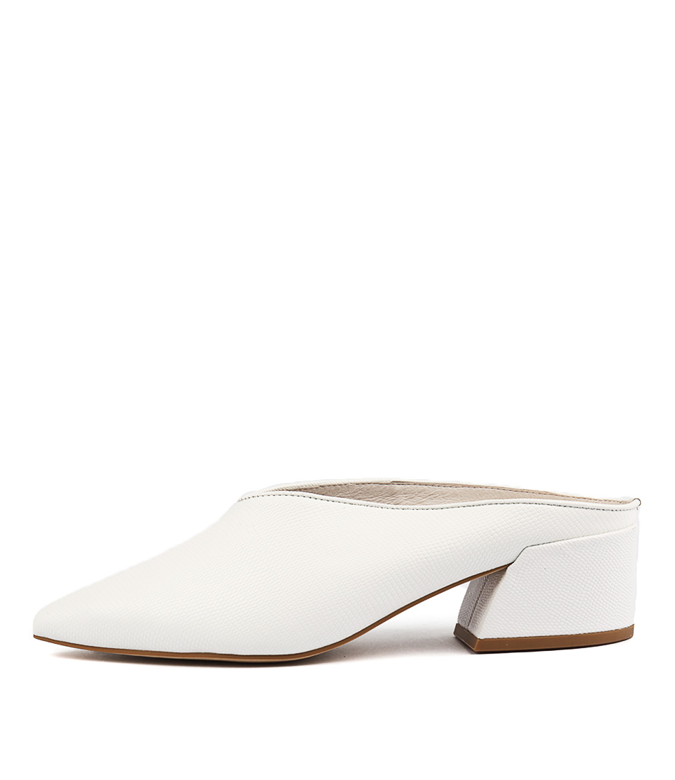 Top End Ongolf White Heeled Shoes