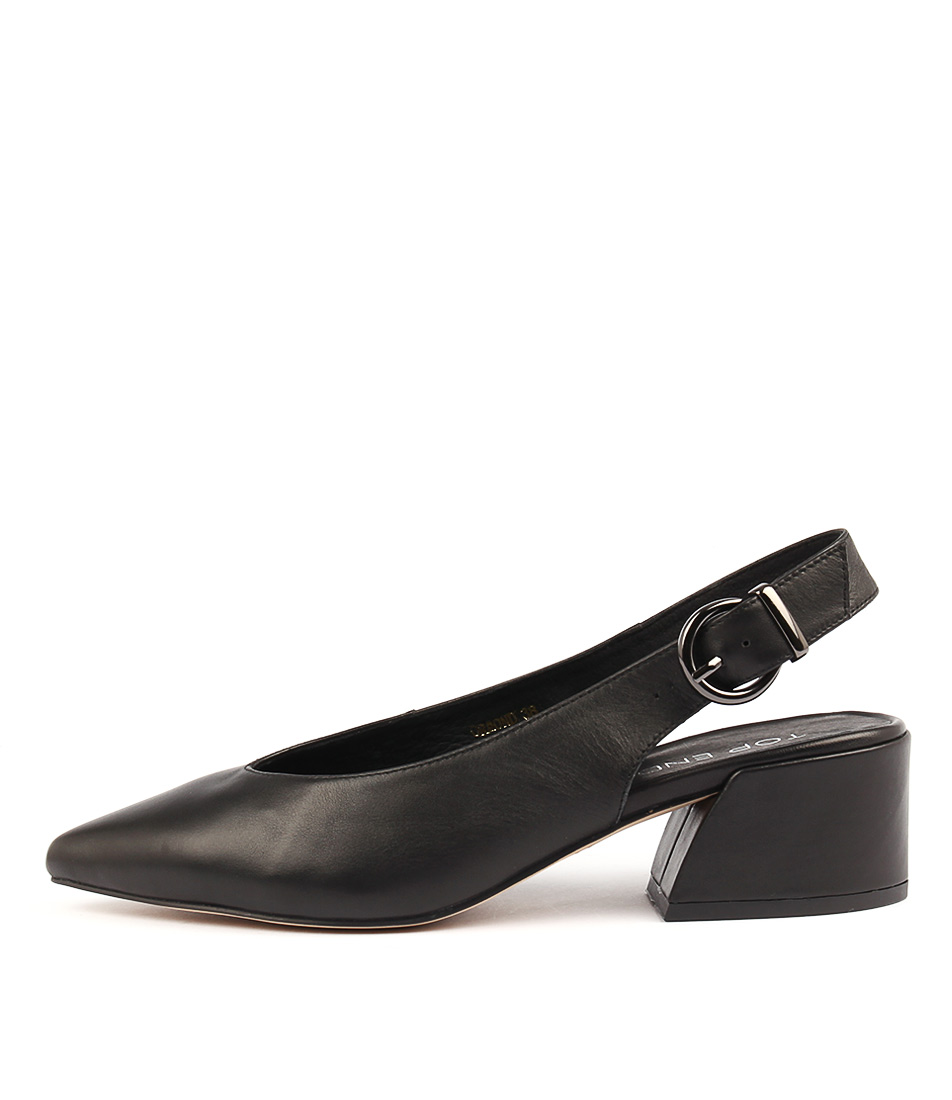 Top End Ormond Black Casual Heeled Shoes