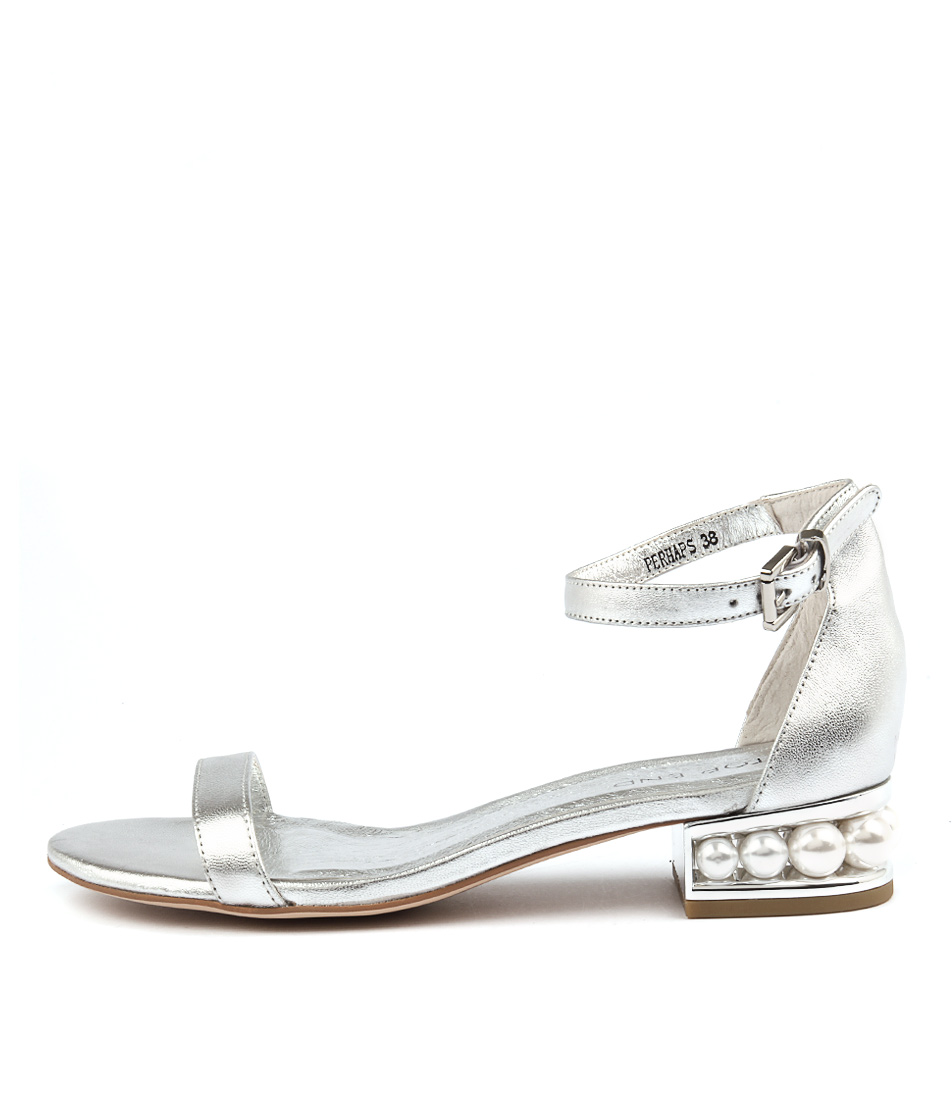 Top End Perhaps Silver Casual Heeled Sandals