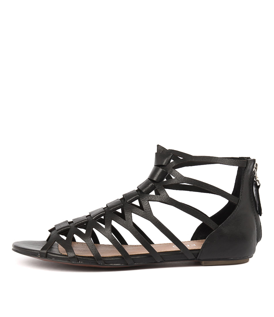 Top End Pilly Black Sandals