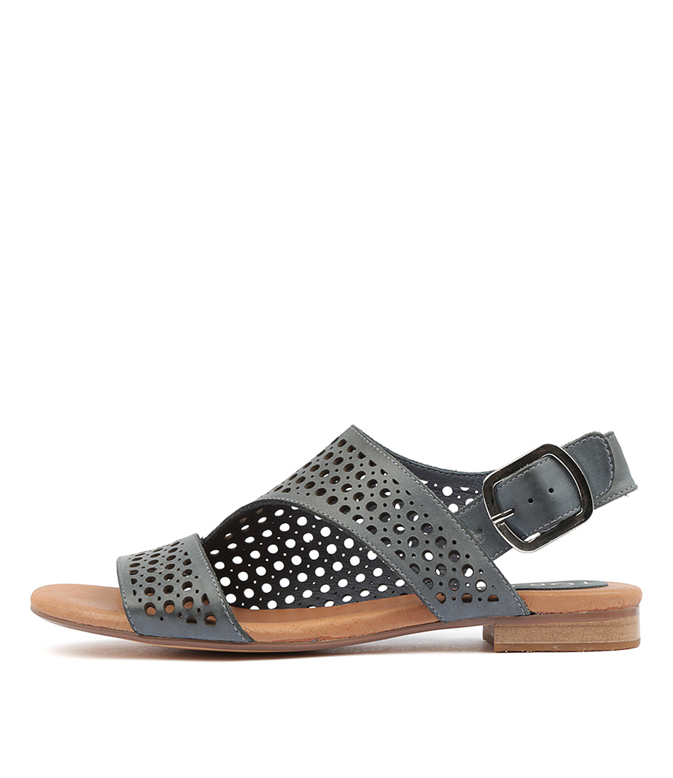 Buy Top End Possessed Navy Navy Flat Sandals online with free shipping