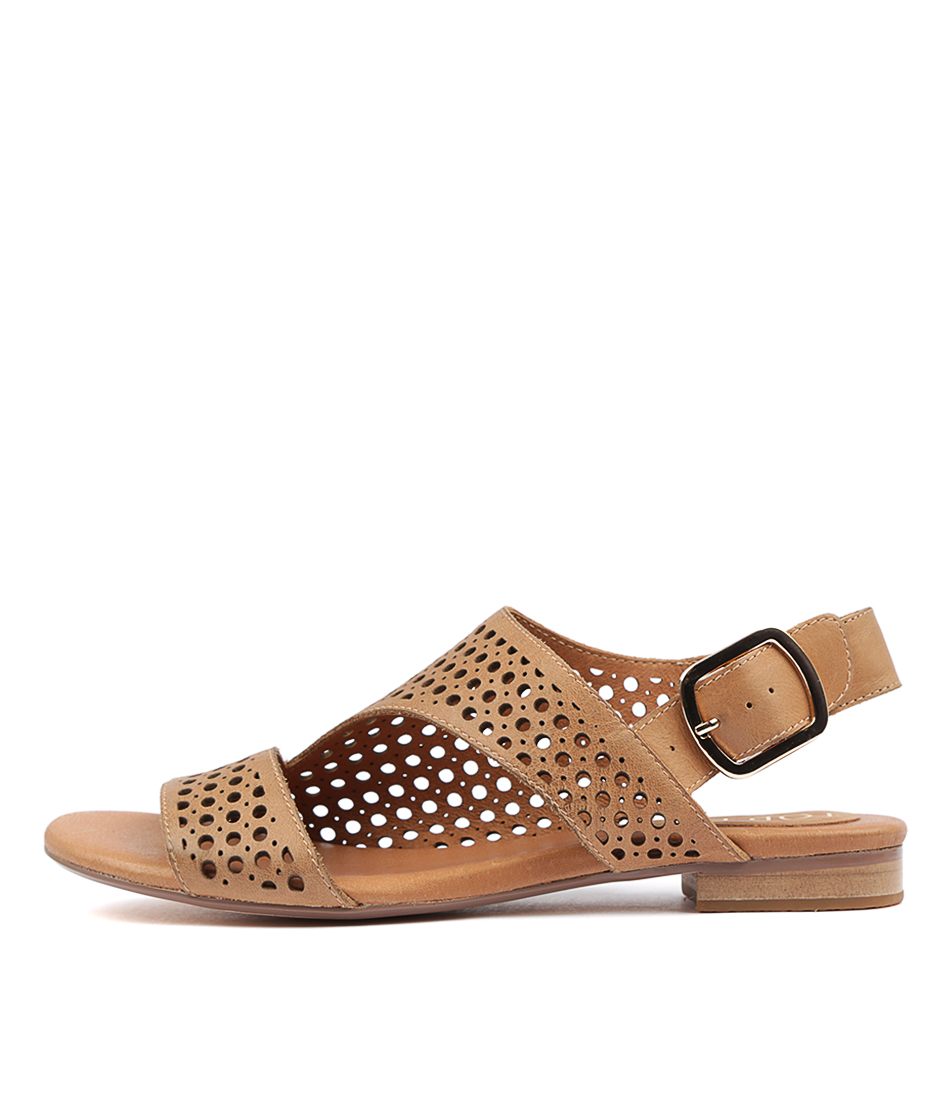 Buy Top End Possessed Tan Tan Flat Sandals online with free shipping