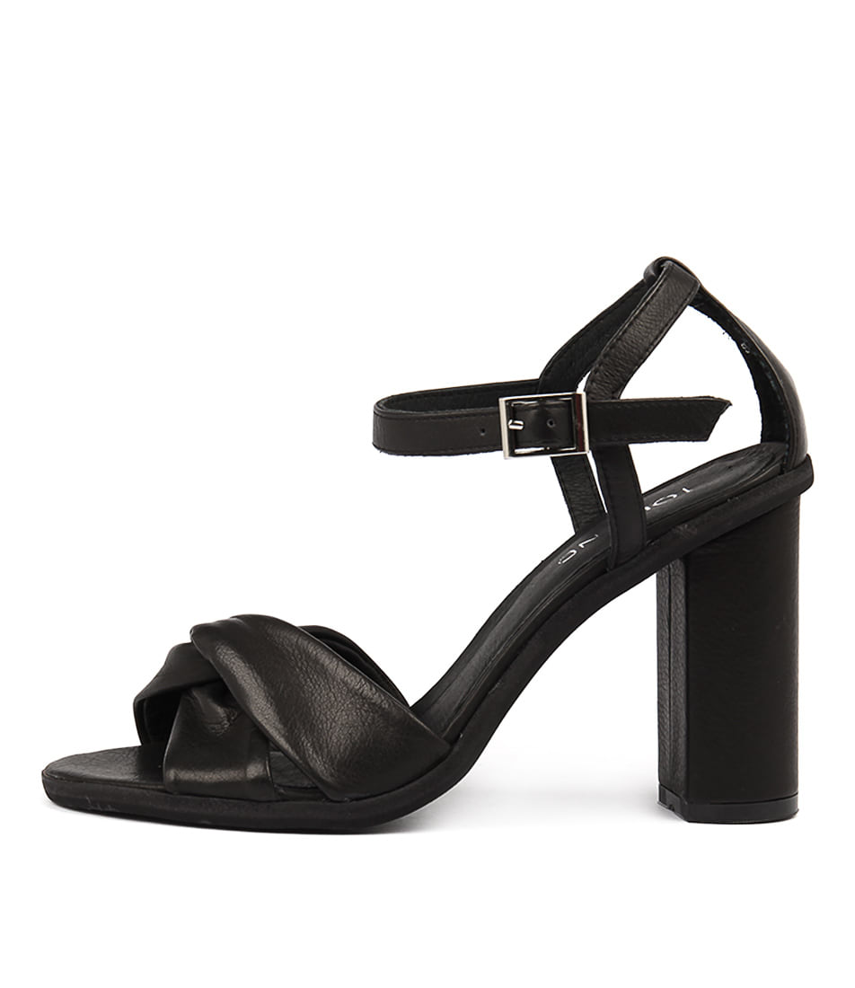 Buy Top End Sertim Black Heeled Sandals online with free shipping