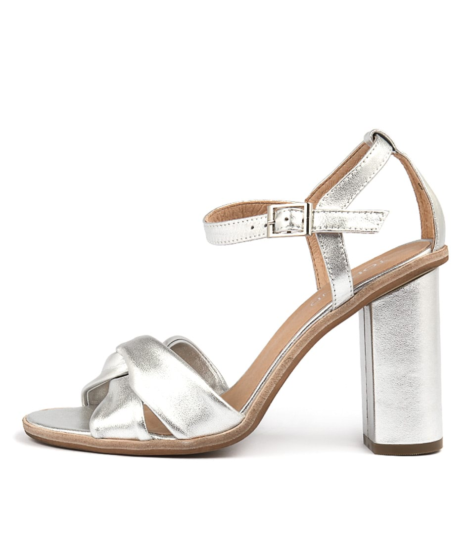 Buy Top End Sertim Silver Heeled Sandals online with free shipping