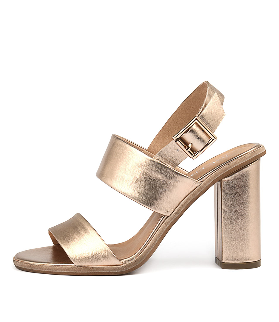 Top End Sowzer Rose Gold Heeled Sandals