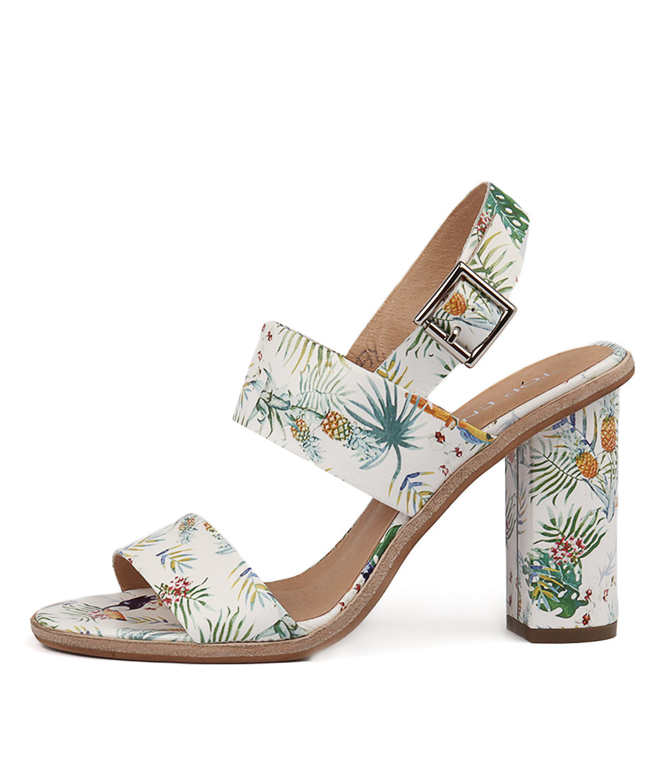 Top End Sowzer White Tropical Heeled Sandals