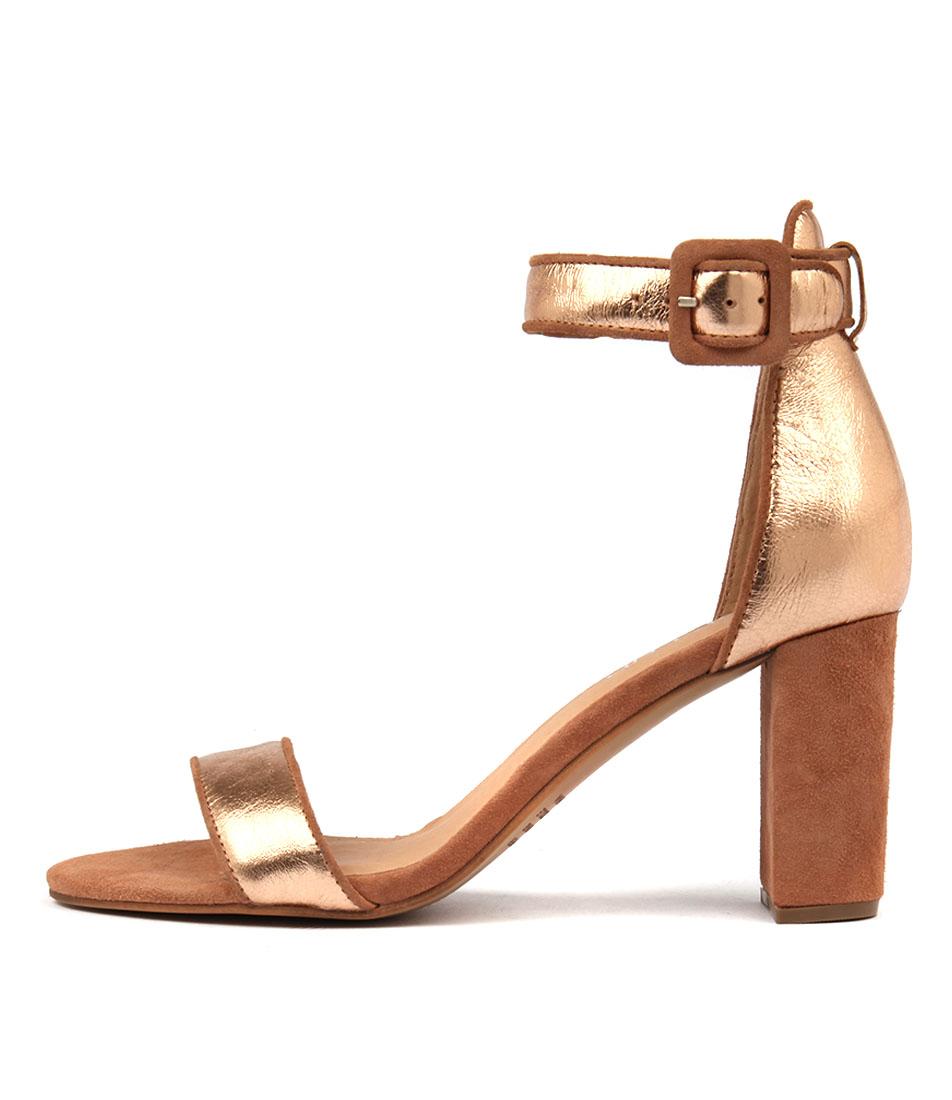Top End Treem Rose Gold Heeled Sandals