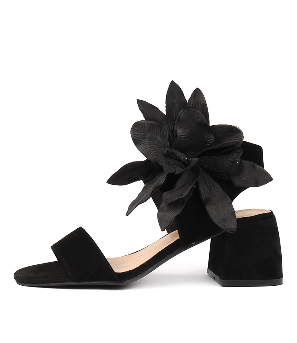 Top End Wynell Black Heeled Sandals