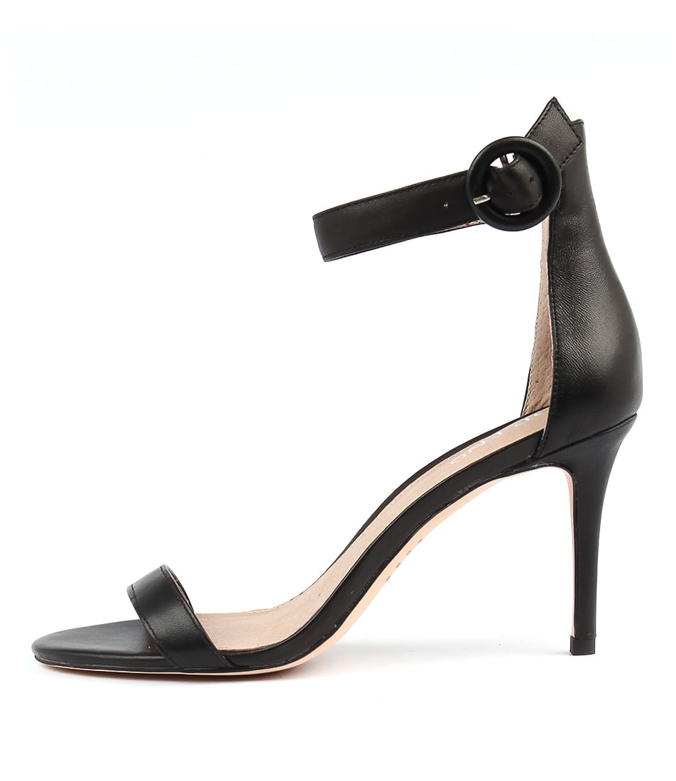 Top End Drive Black Heeled Sandals