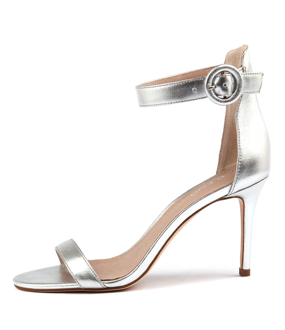 Buy Top End Drive Silver Heeled Sandals online with free shipping