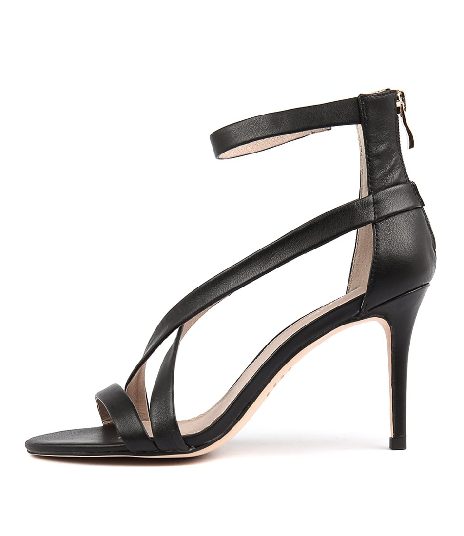 Top End Dusty Black Heeled Sandals
