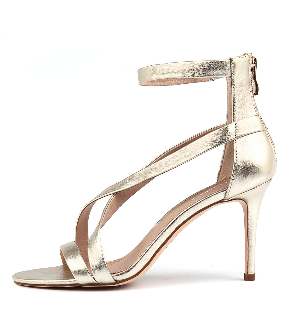 Top End Dusty Pale Gold Heeled Sandals