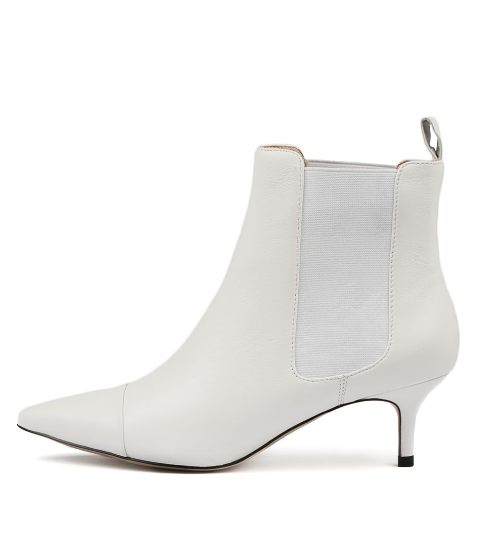 Photo of Top End Cielo White Ankle Boots, shop Top End ankle boots online