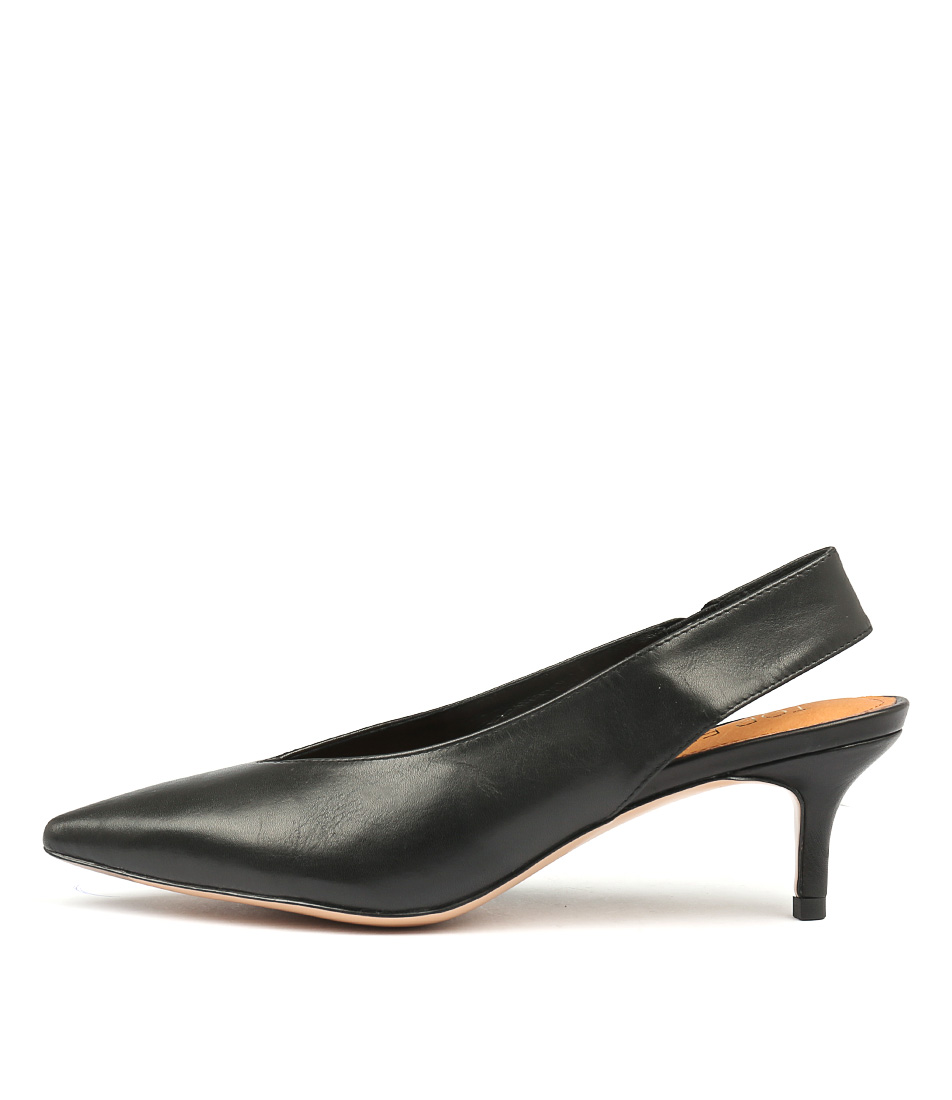 Top End Clera Black Heeled Shoes