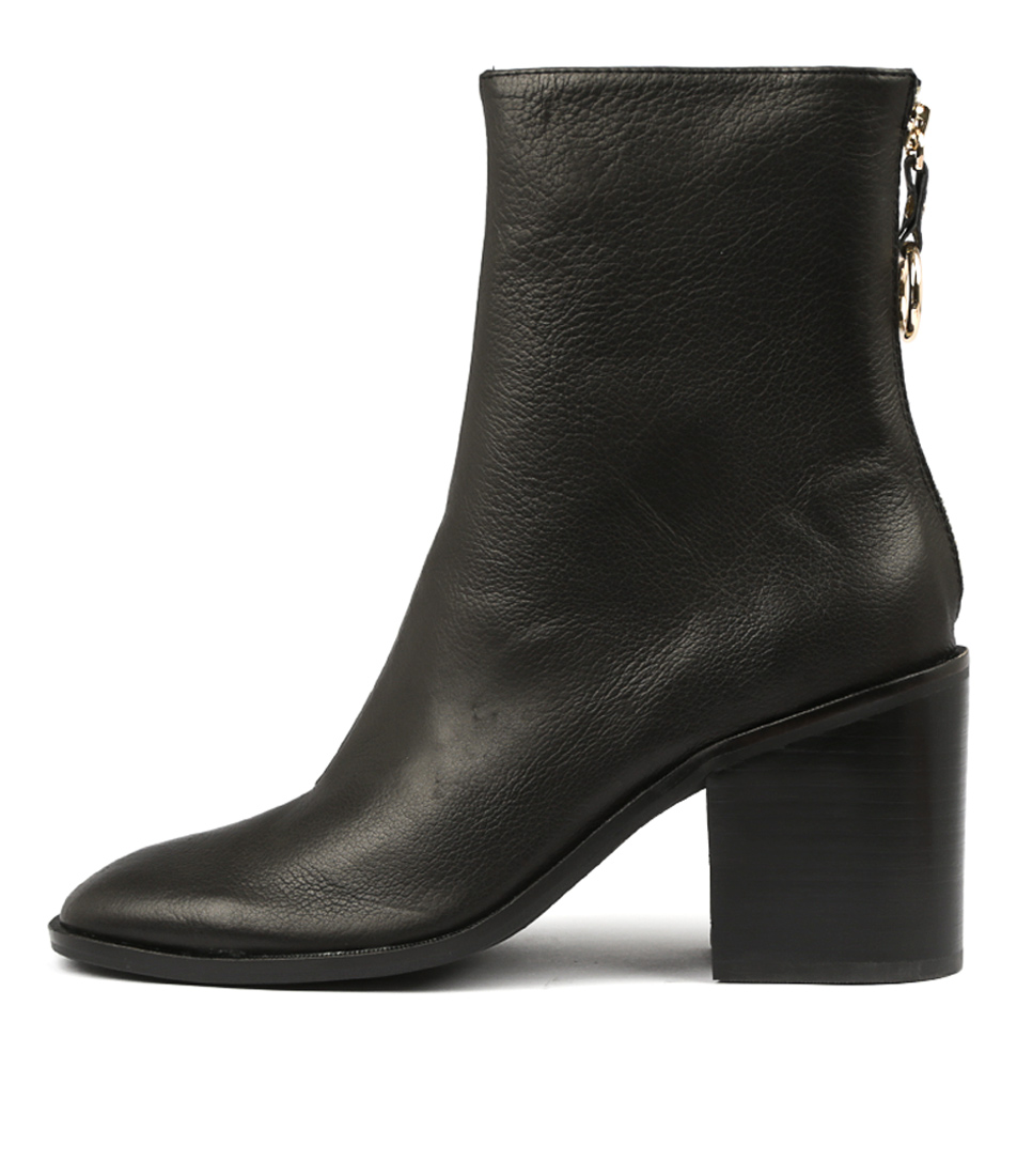 Photo of Top End Danny Black Ankle Boots, shop Top End ankle boots online