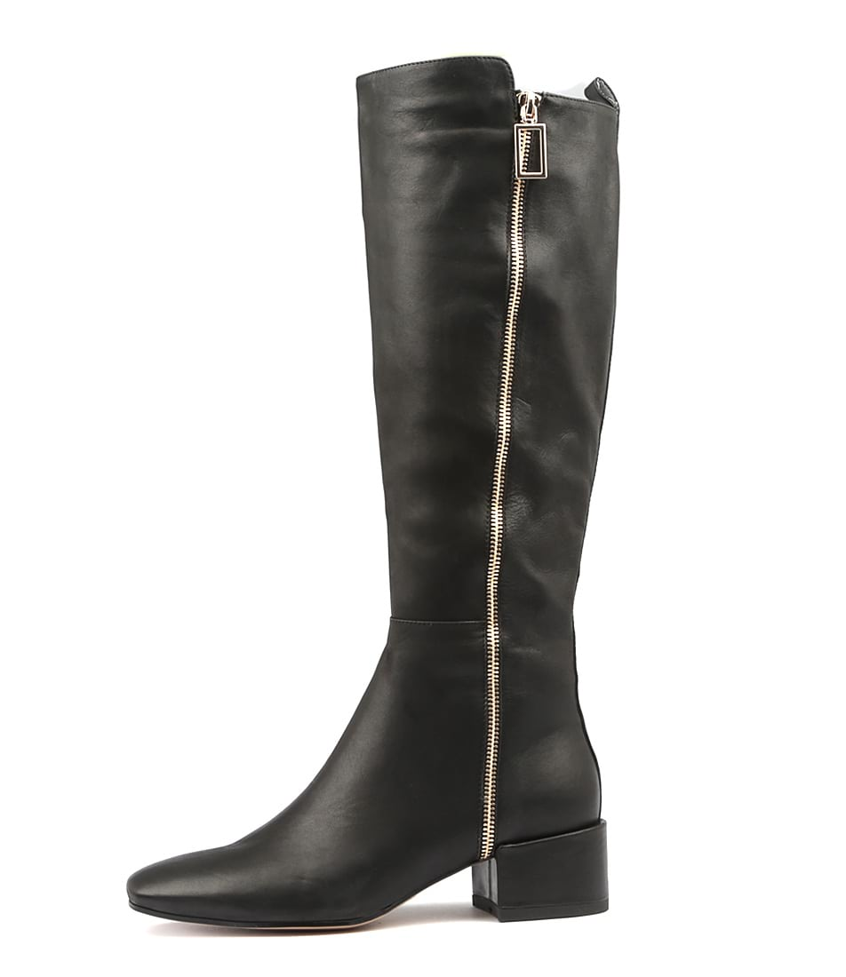 Top End Haden Black Boots Womens Shoes Long Boots