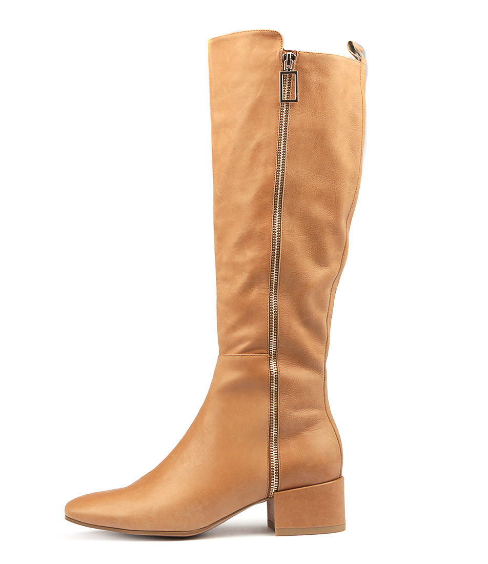 Top End Haden Tan Boots Womens Shoes Long Boots