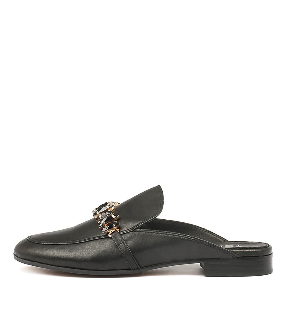 Top End Leann Black Flat Shoes