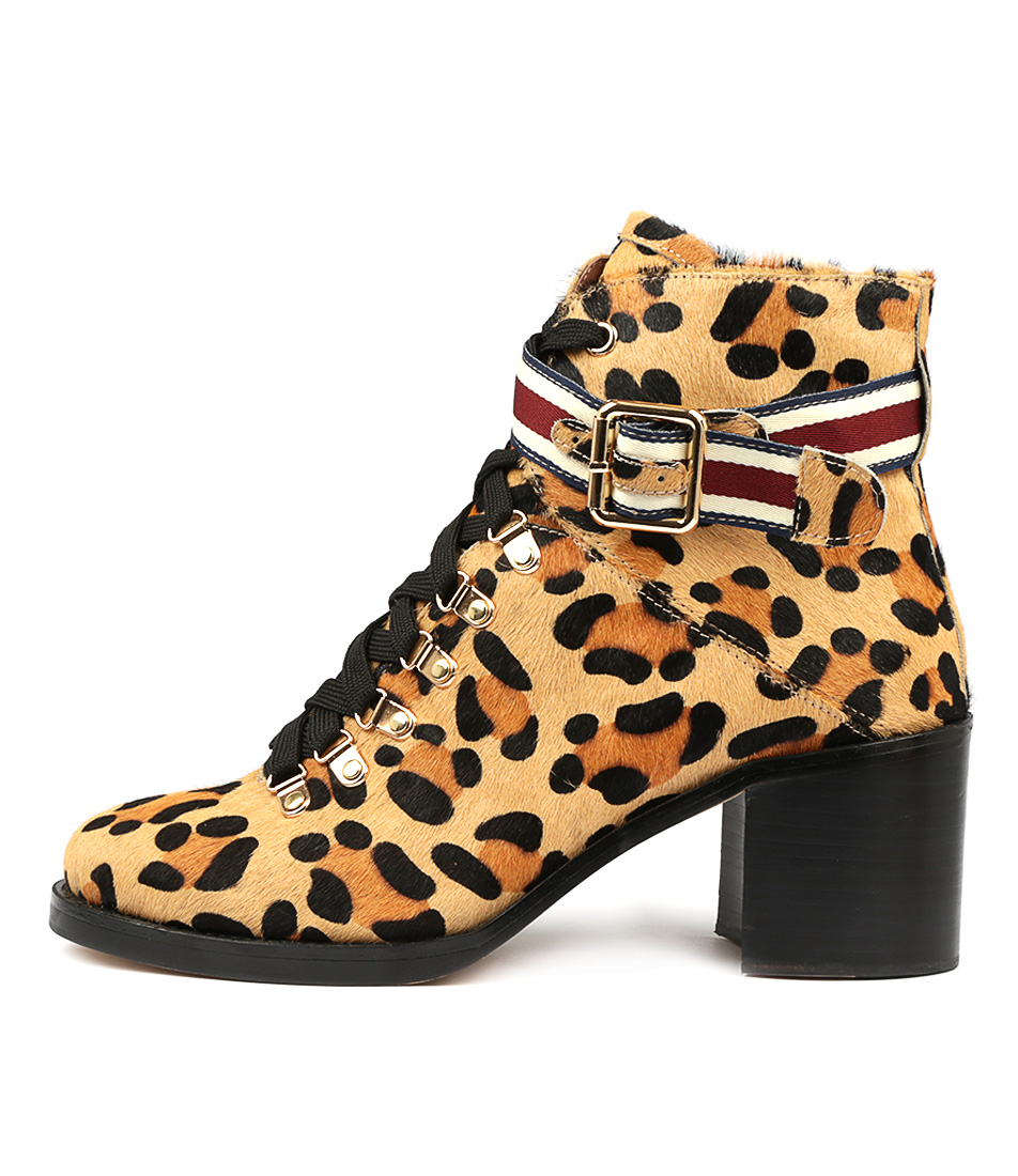 Buy Top End Nilda Ocelot Ankle Boots online with free shipping