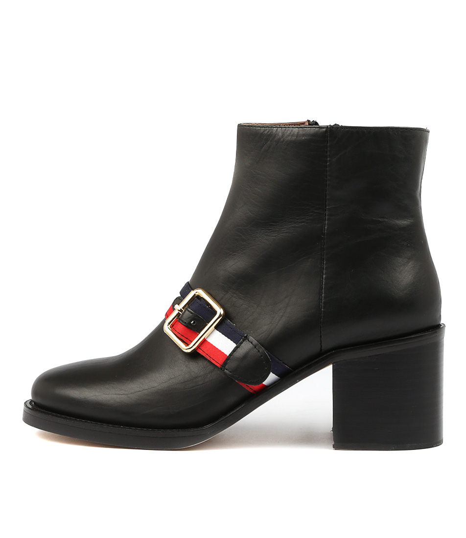 Photo of Top End Niles Black Ankle Boots, shop Top End ankle boots online