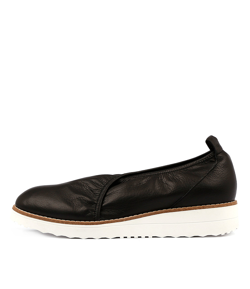 Top End Obabe Black Flat Shoes