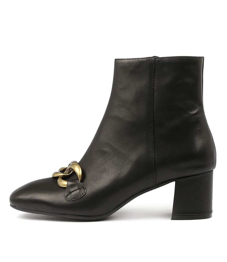 Top End Rance Black Ankle Boots