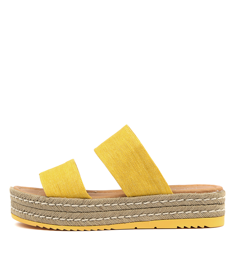 Buy Top End Alline Yellow Heeled Sandals online with free shipping