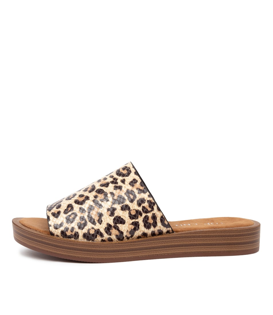 Buy Top End Faron Ocelot Heeled Sandals online with free shipping