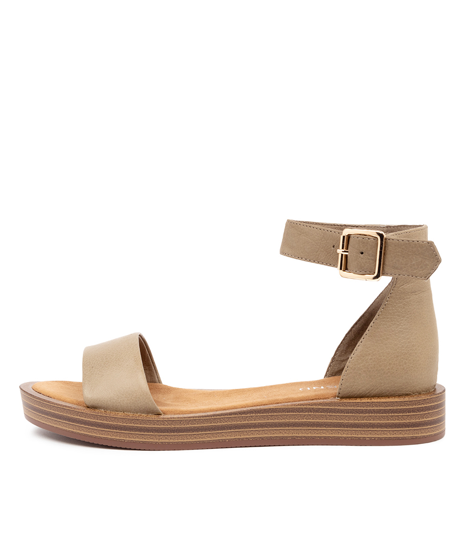 Buy Top End Ferd Khaki Heeled Sandals online with free shipping