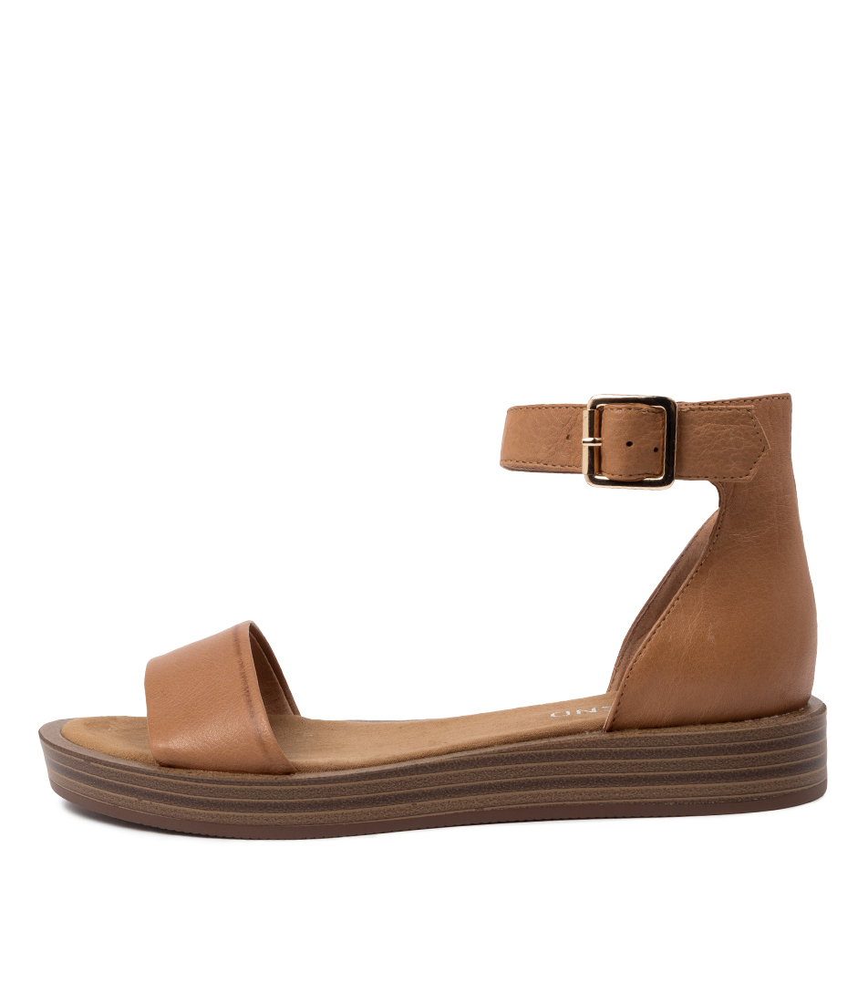 Buy Top End Ferd Dk Tan Heeled Sandals online with free shipping