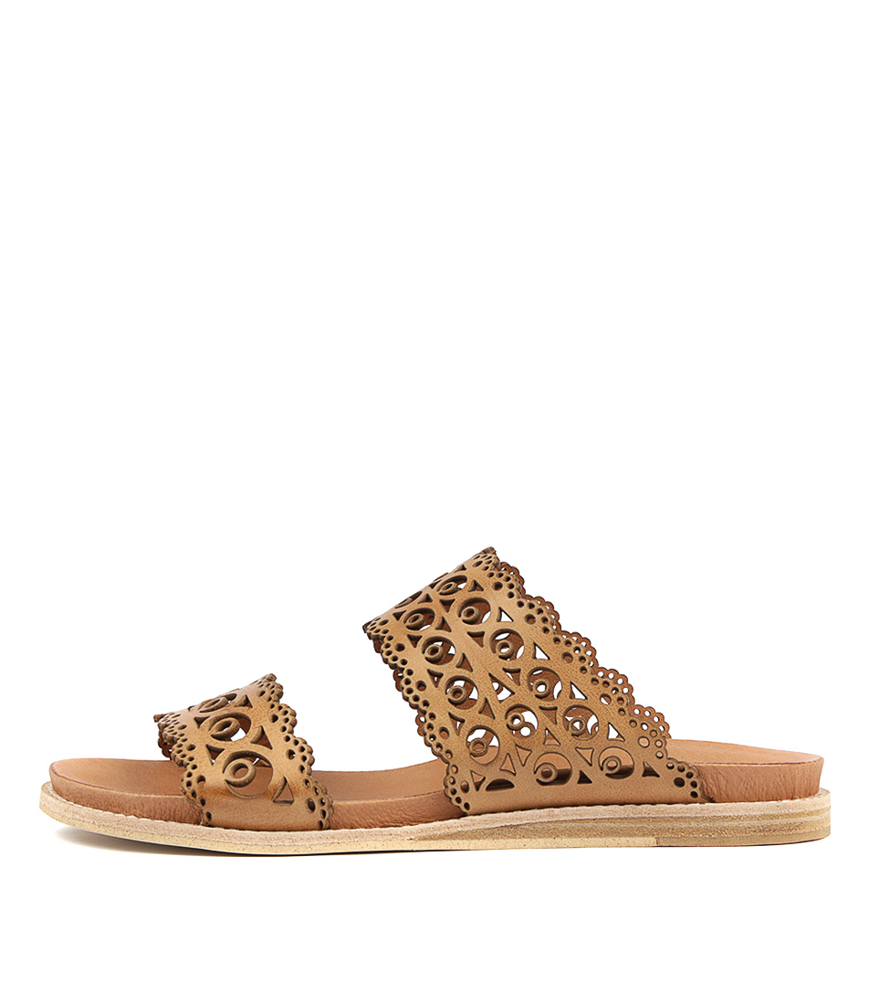 Buy Top End Hermon Tan Flat Sandals online with free shipping