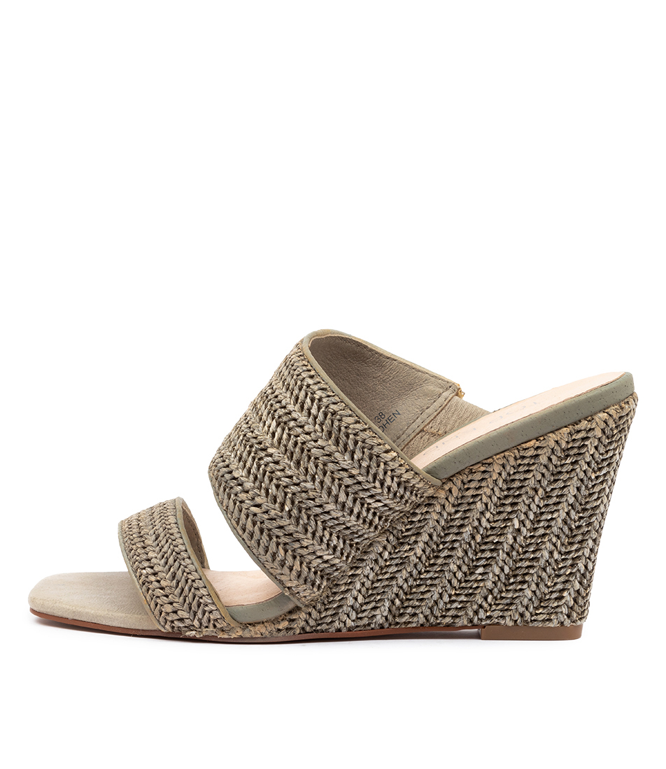 Buy Top End Kohen Khaki Heeled Sandals online with free shipping