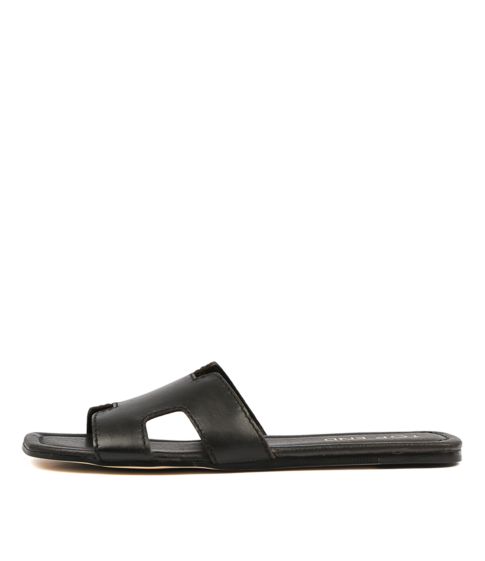 Buy Top End Leamon Black Flat Sandals online with free shipping