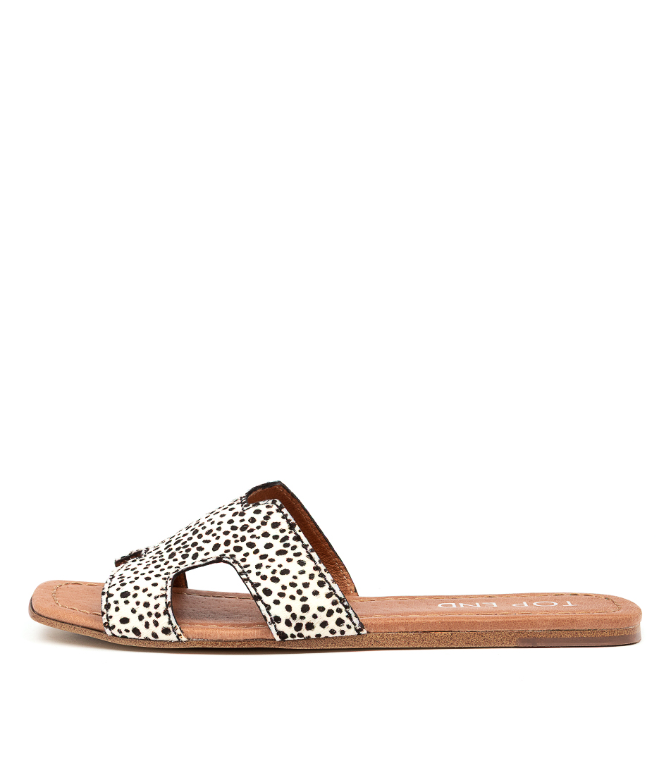 Buy Top End Leamon Black & White Flat Sandals online with free shipping